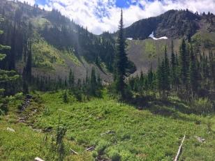 Looking ahead towards the ridge