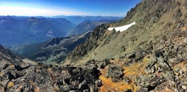 Panorama looking West towards Slocan Lake